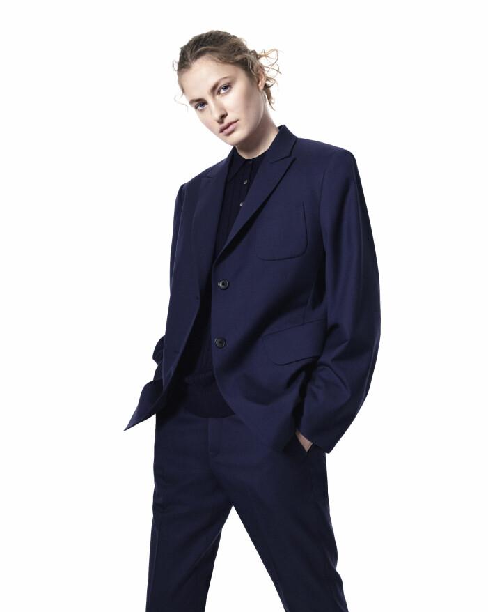 Blå kostym från +J Jil Sander och Uniqlo