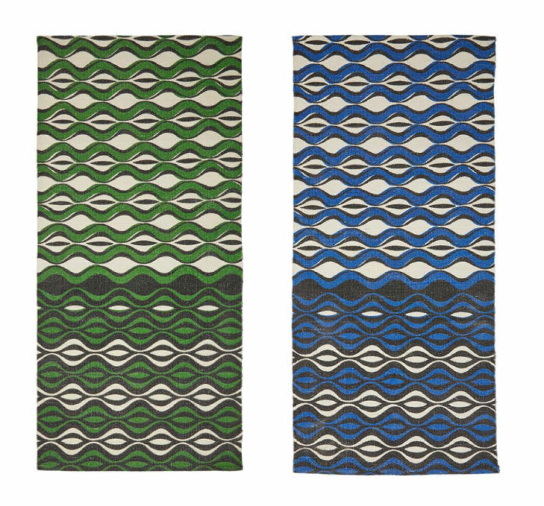 Mönstrad matta i olika färger.