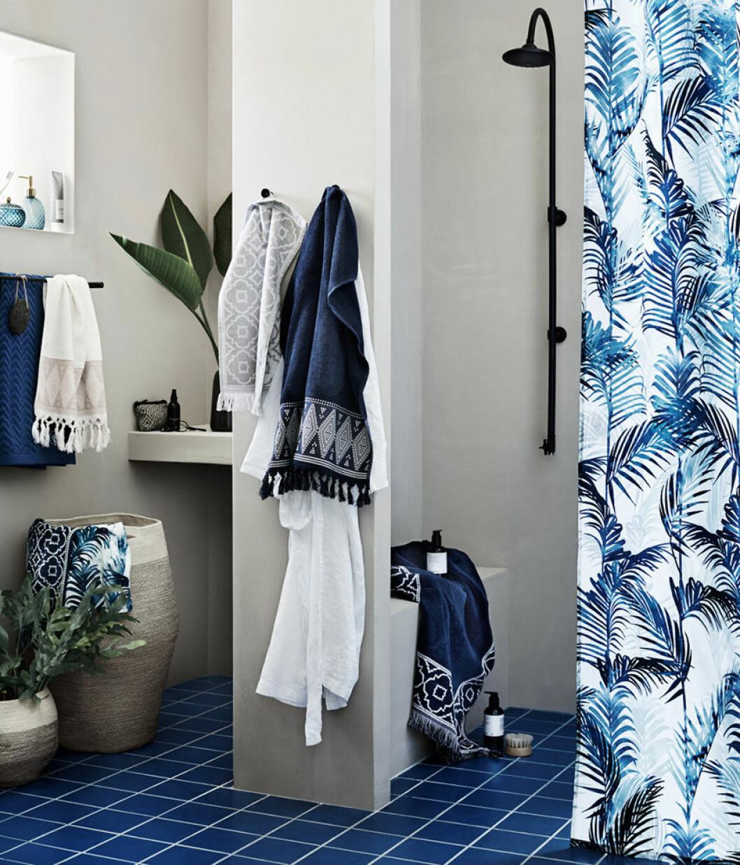 Lägg till mönster i badrummet.