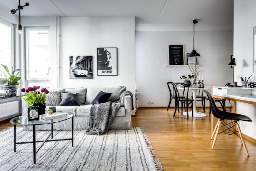 Kombinerat vardagsrum och matsal