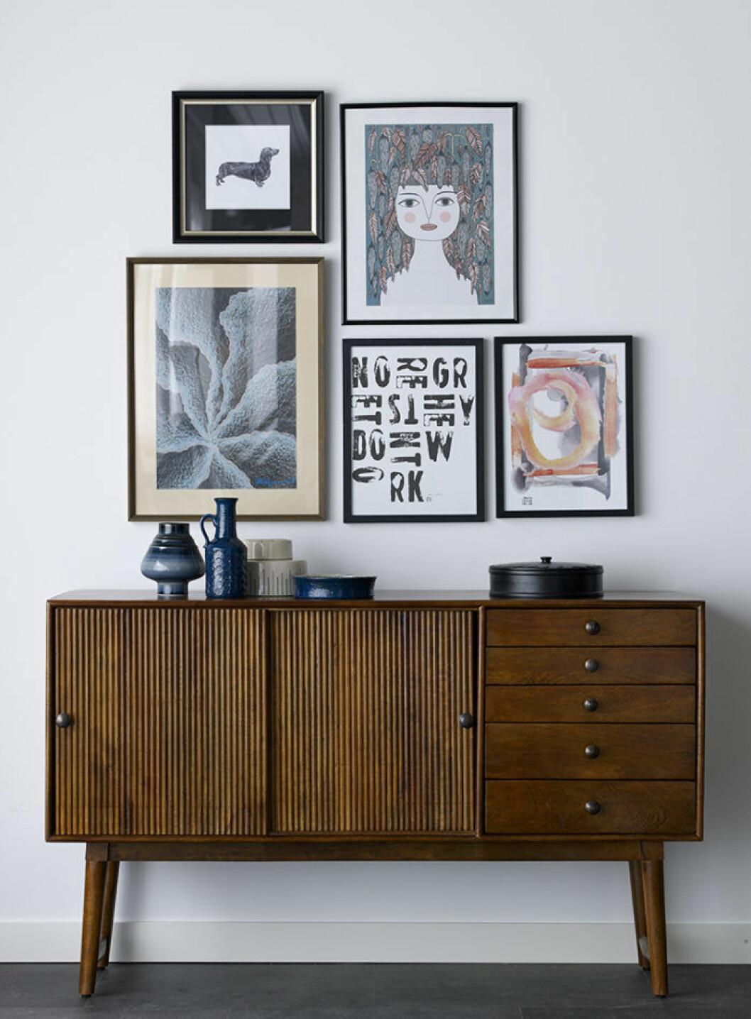 Förvaringsmöbel i mörkt trä ur Ellos Homes nya vintagekollektion