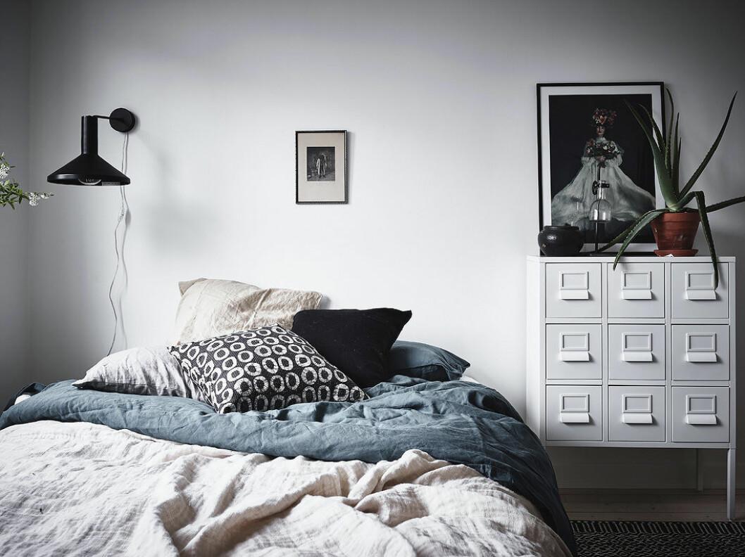 Sovrum med linneörngott