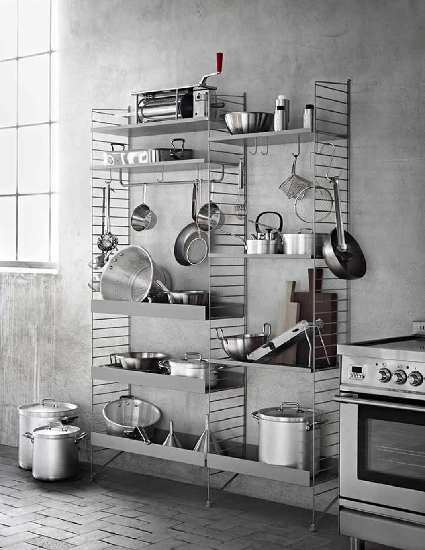 Rostfria tillbehör i köket