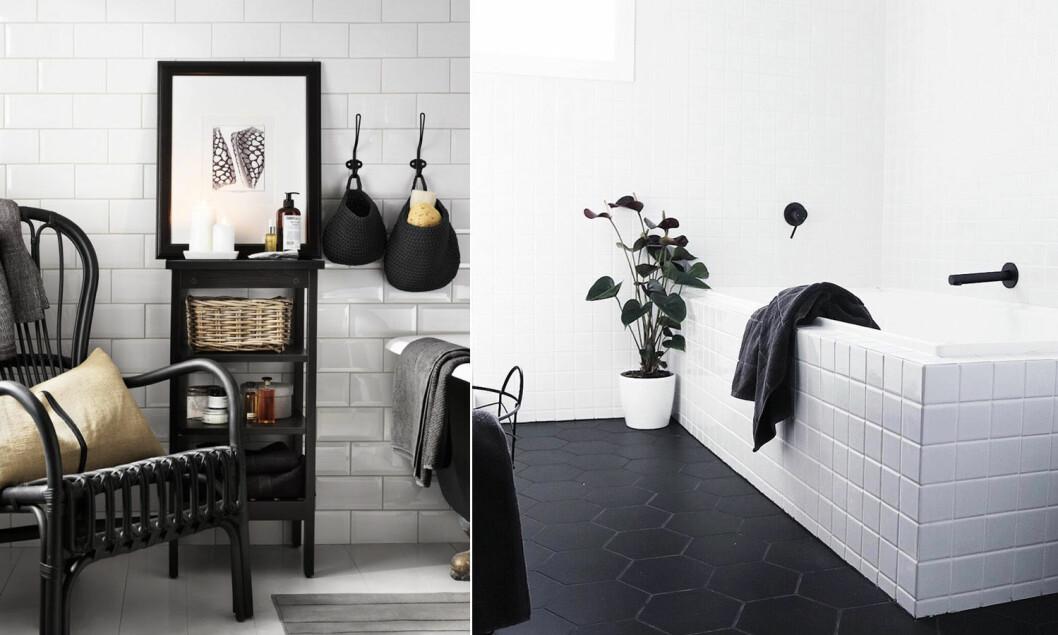 Addera svarta detaljer i badrummet.