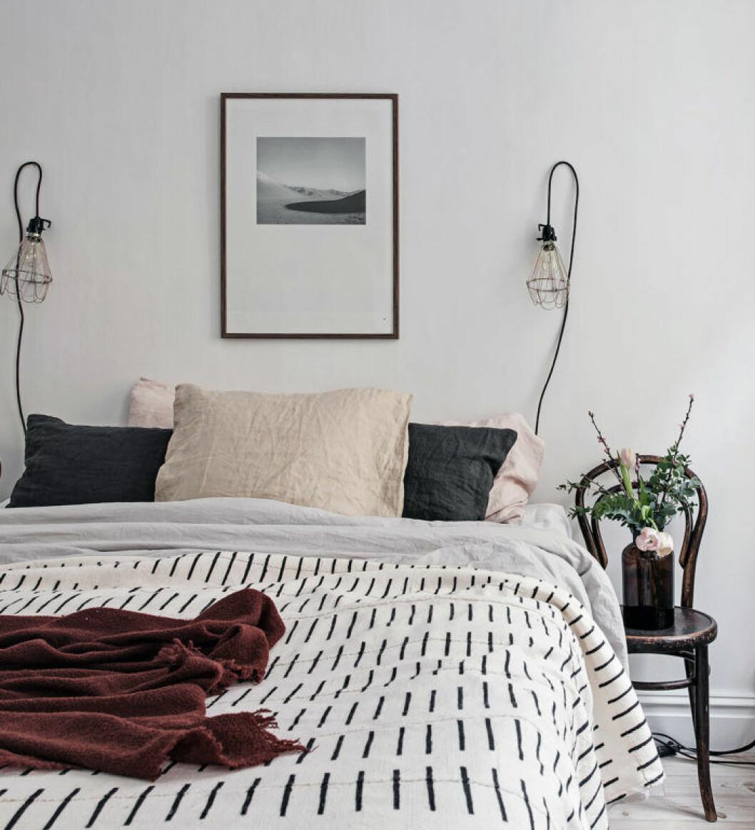 Randigt påslakan - sovrum