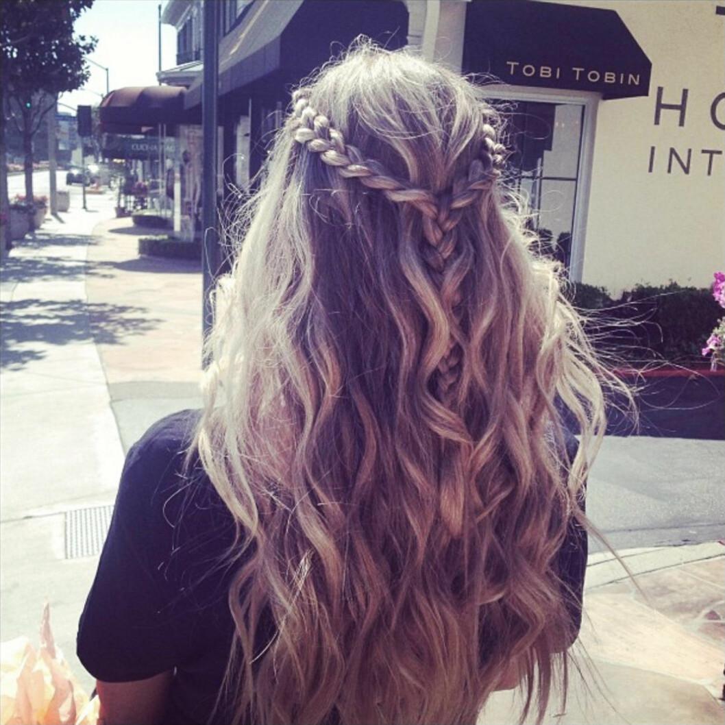 Fläta delar av ditt hår