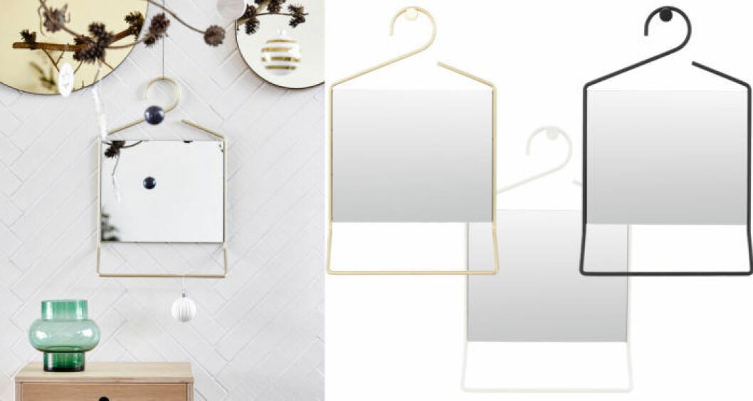 Spegel Hang från House doctor i mässing, svart eller vitt.