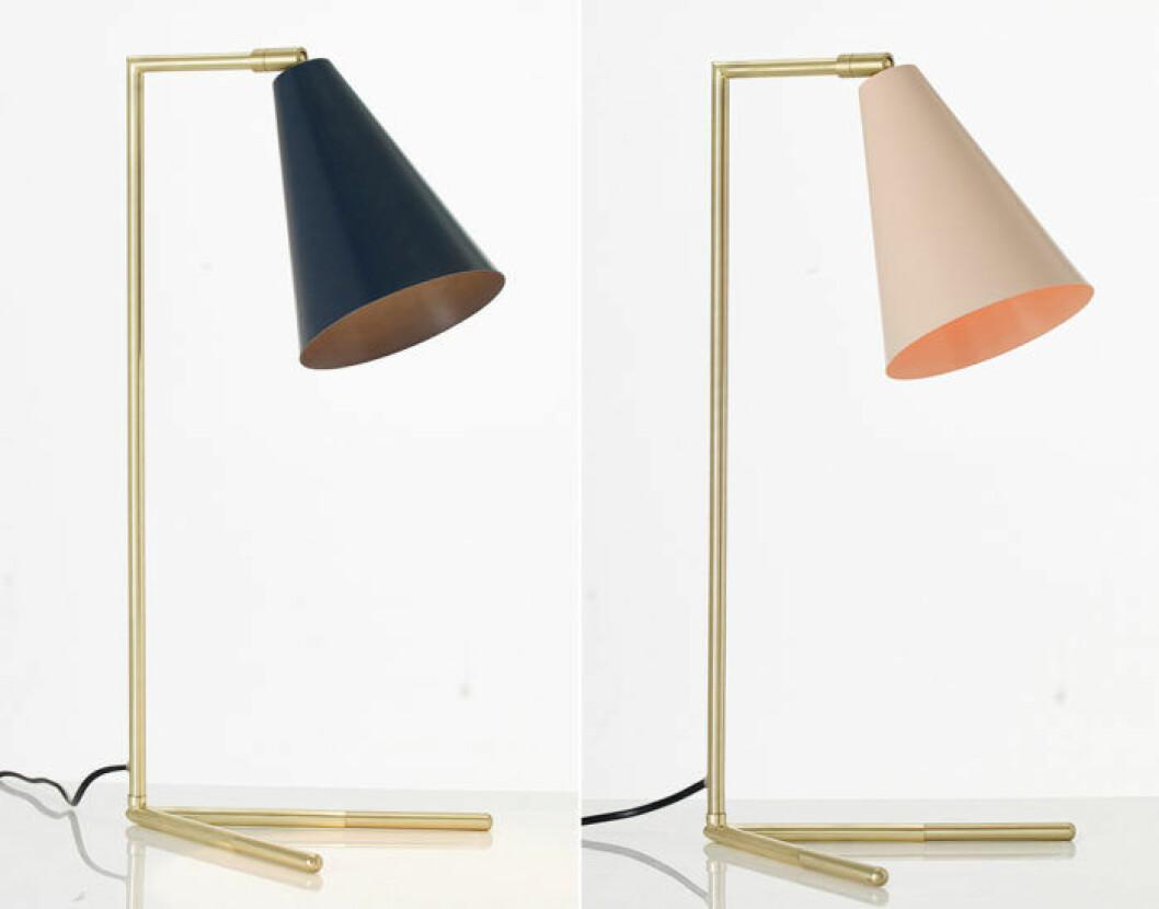 Lampor med mässingsfot från Ellos Homes vintagekollektion