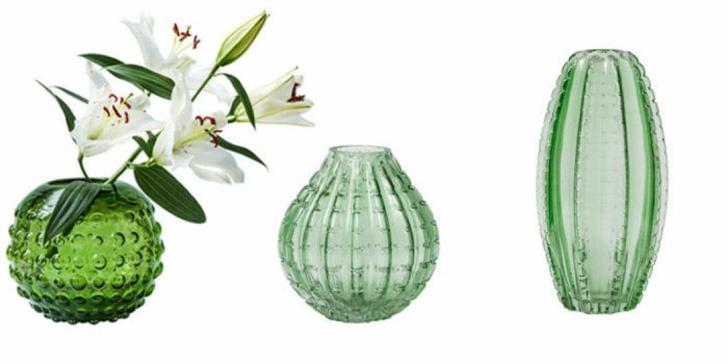 Gröna vaser.