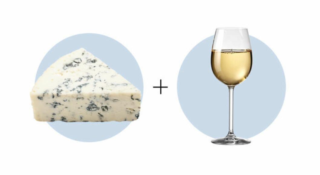 Ost och vinkombination Gorgonzola och Muscat