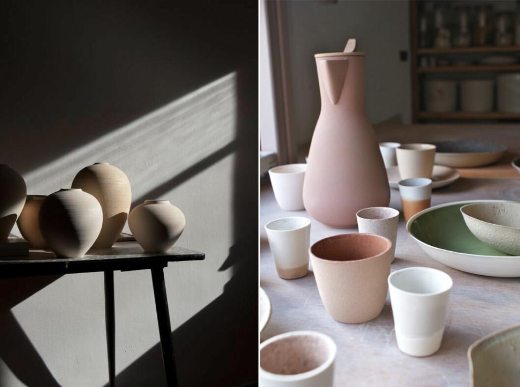 Färgglad keramik