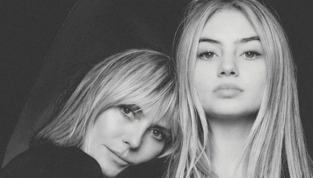 Heidi och Leni Klum på tyska Vogues omslag - dotterns första omslag!