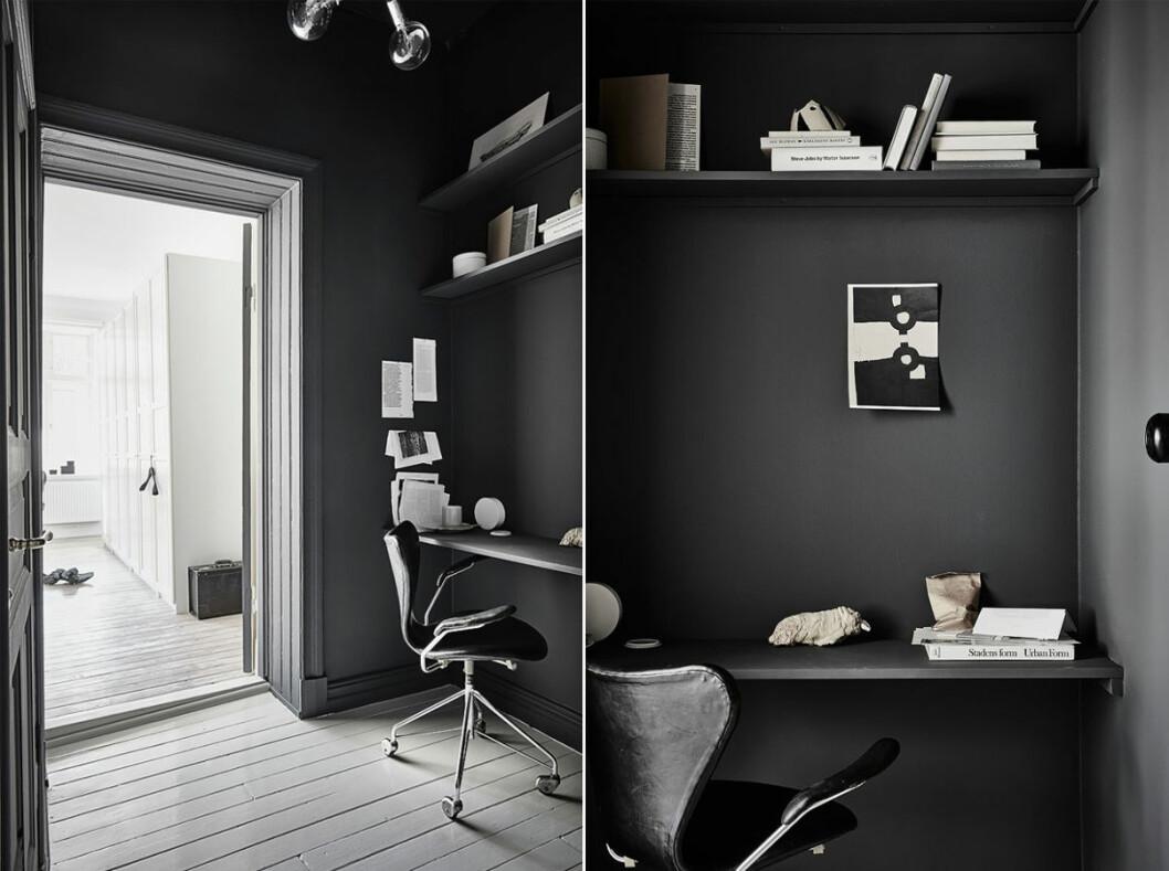 Mörgrå väggfärg