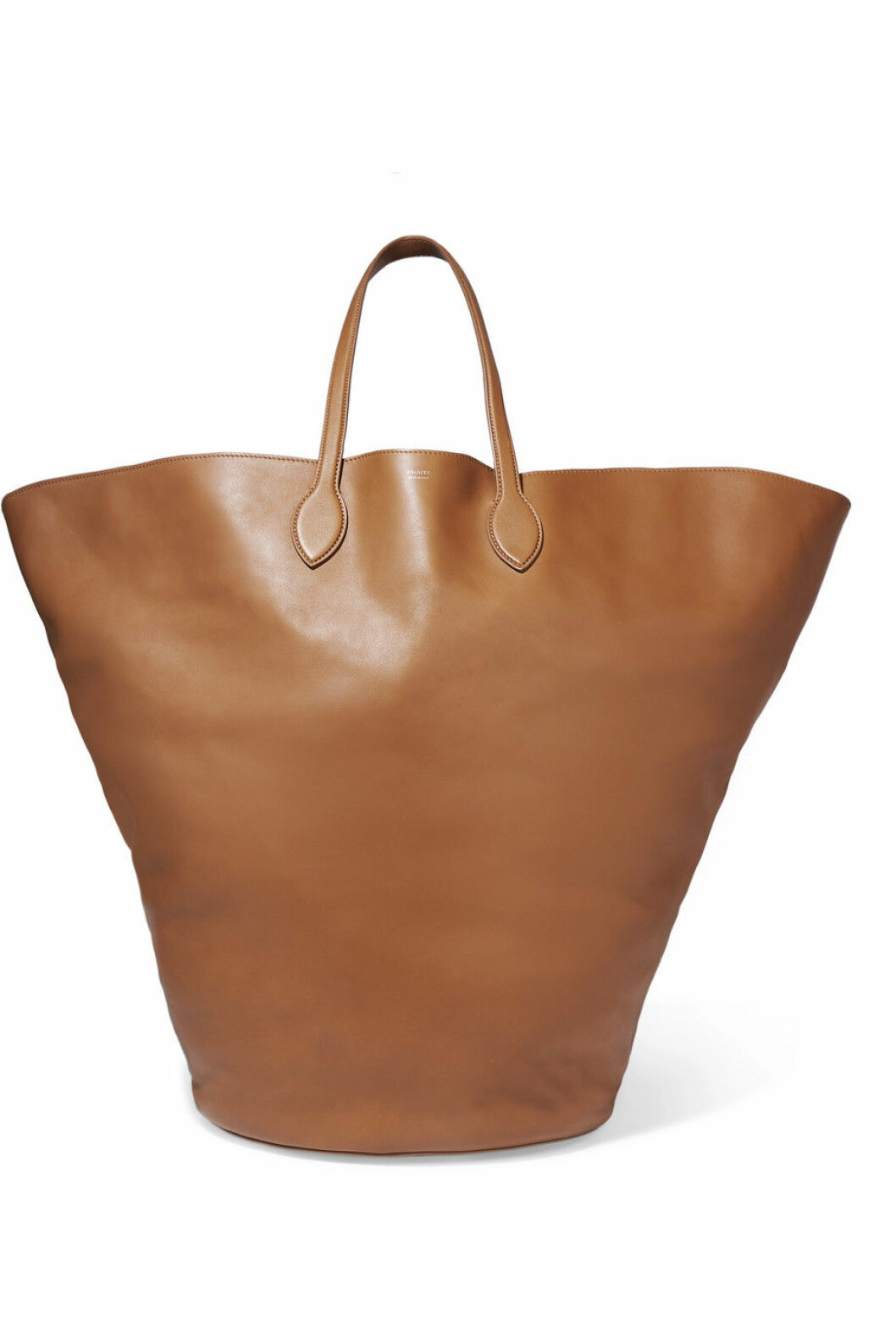 Stor brunbeige väska från Khaite via Net-a-porter.