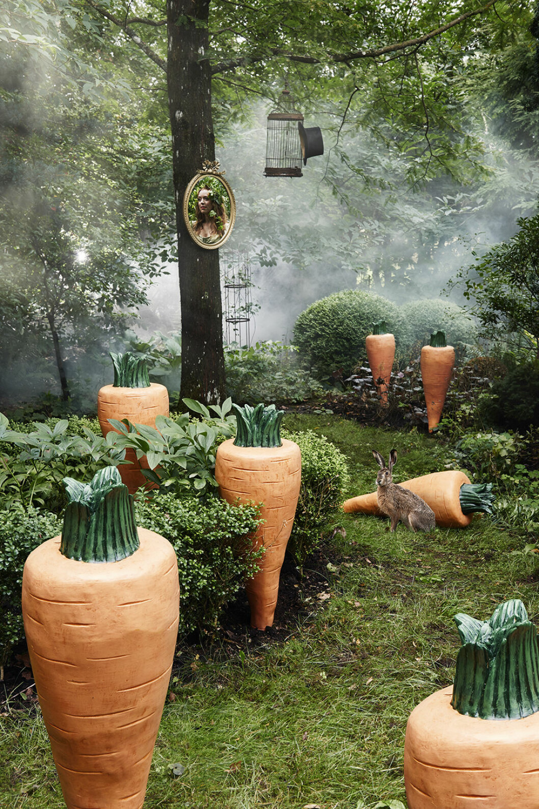 Stora morötter för trädgården från Ellos Homes samarbete med Lisa Bengtsson.