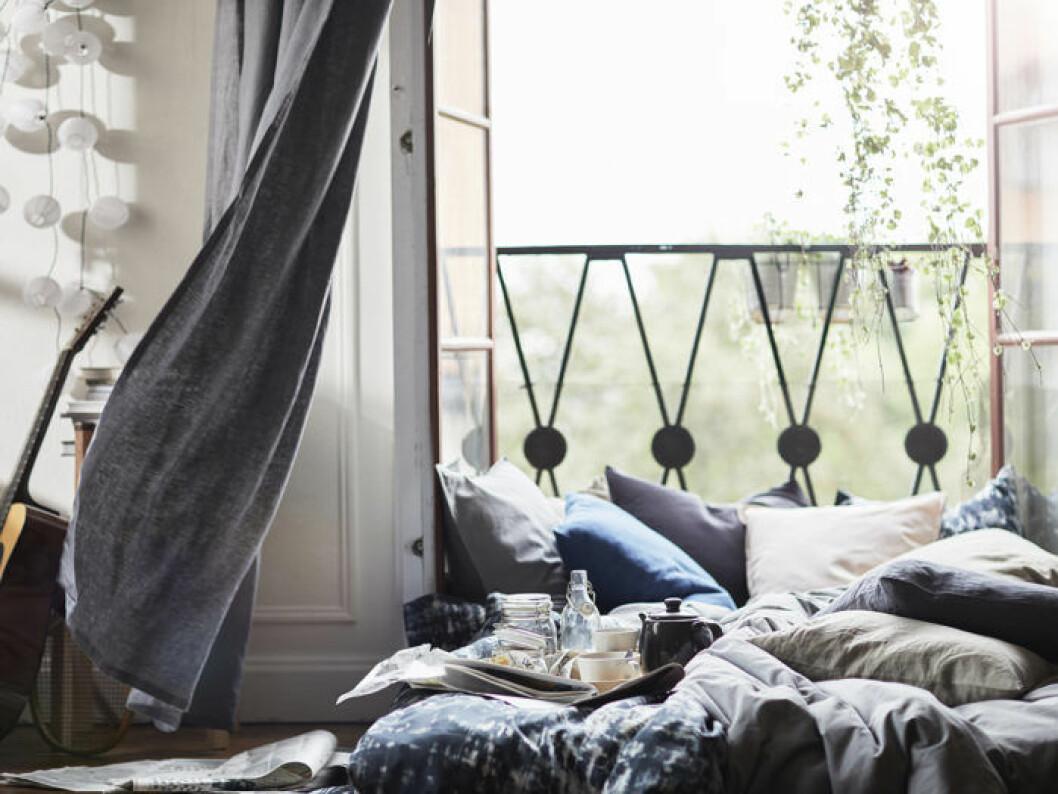 Mysig balkongbäddning. Ikeas sommarnyheter 2018.