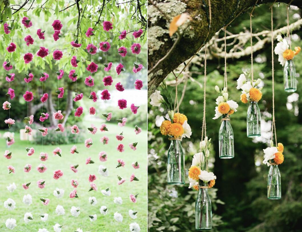 Girlanger av blommor