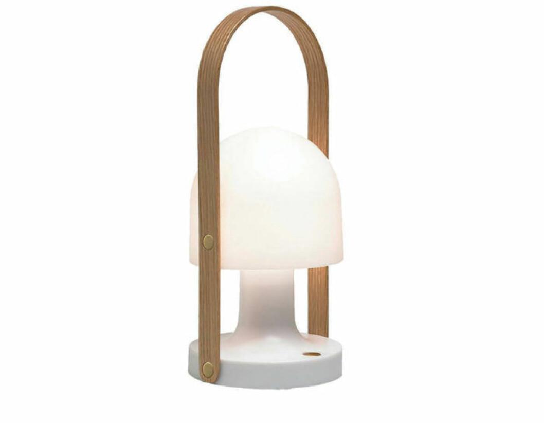 Bärbar lampa som är uppladdningsbar.