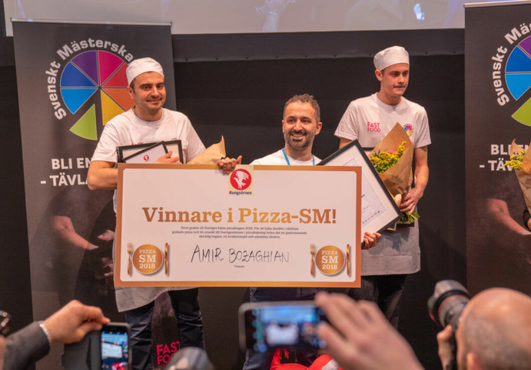 Amir Bozaghians bakar Sveriges bästa pizza 2018. Foto: Jonas Sveningsson