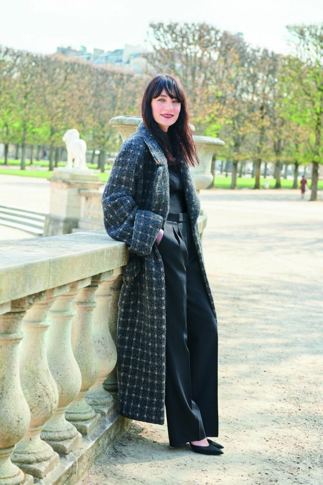 Lucia Pica i Tuilerierna i Paris.