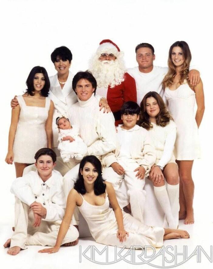 Familjen Kardashians julkort 1995