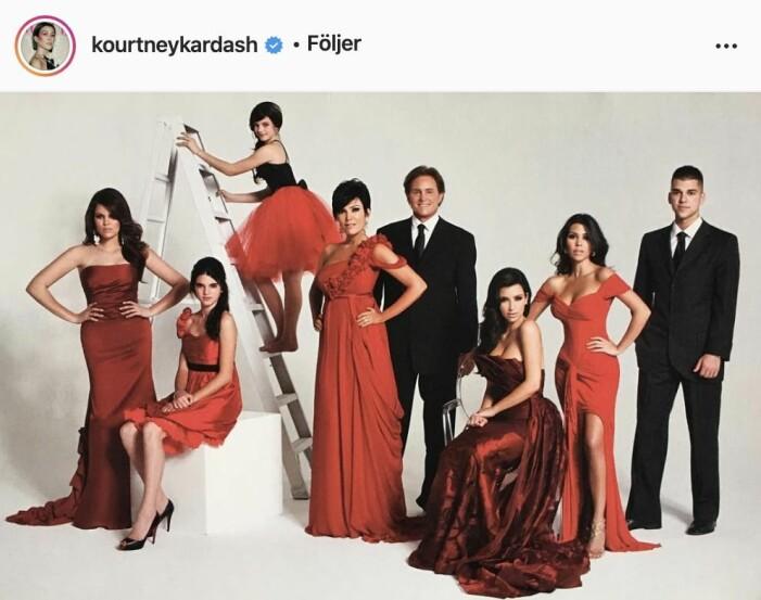 Familjen Kardashians julkort 2008