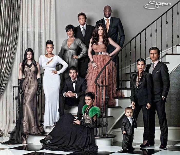 Familjen Kardashians julkort 2010