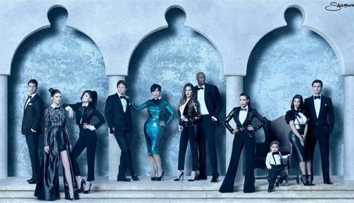 Familjen Kardashians julkort 2011