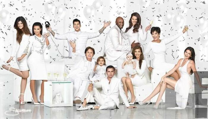 Familjen Kardashians julkort 2012