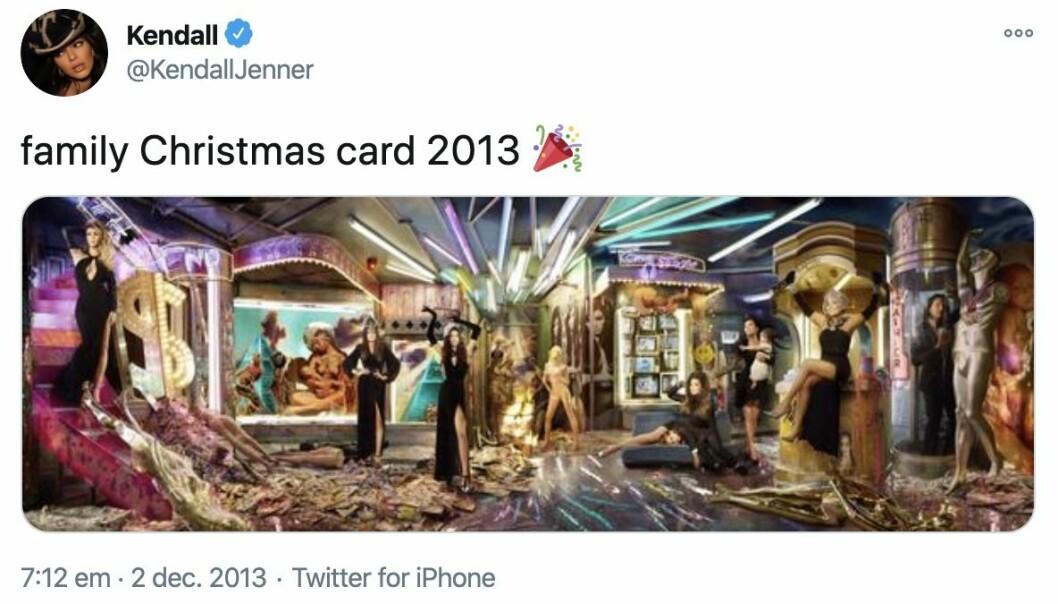 Familjen Kardashians julkort 2013