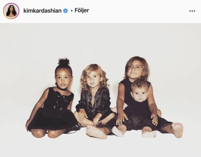 Familjen Kardashians julkort 2015