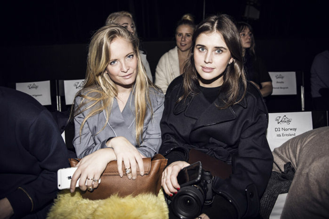 20150127_Valerie_Frontrow_nathalie Helgerud + Darja Barannik