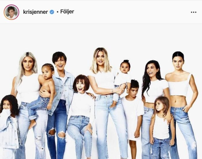 Familjen Kardashians julkort 2017