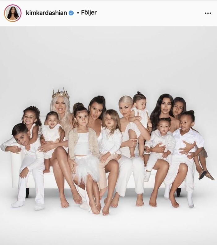 Familjen Kardashians julkort 2018