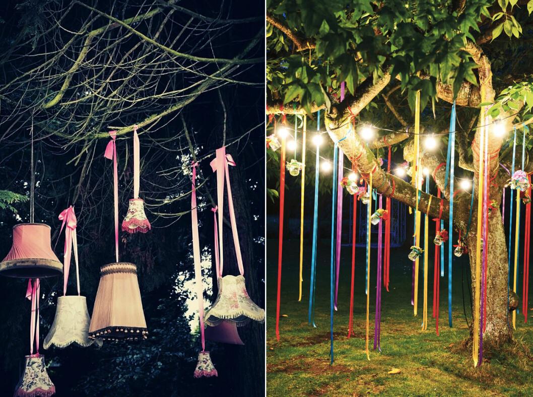 dekorera med gamla lampskärmar