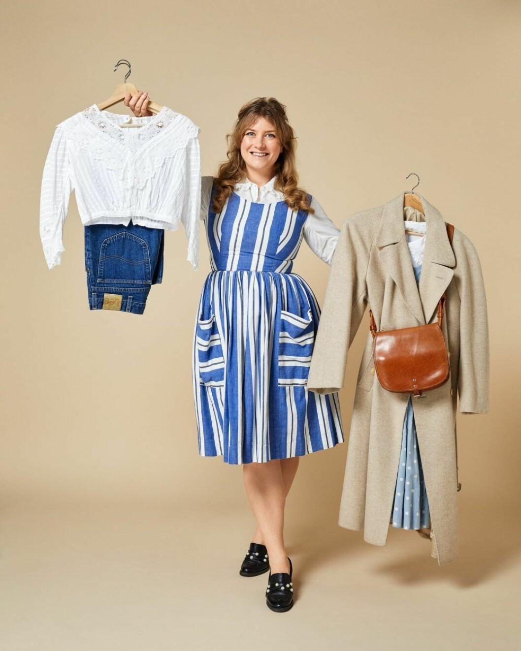 Elsa Billgren öppnar vintageabonnemang med Independent kostym – min vintagegarderob