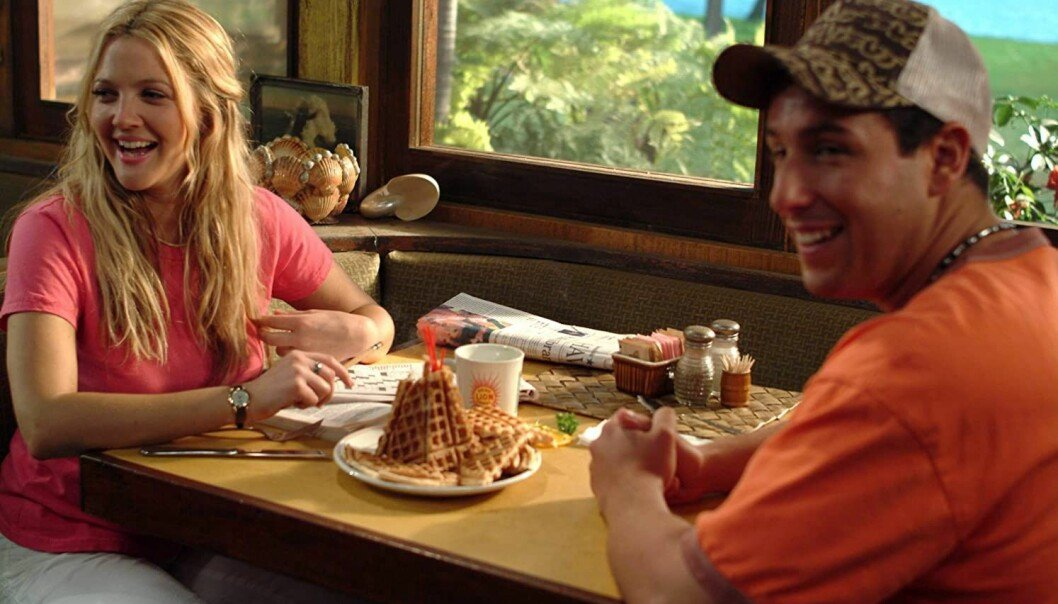 50 first dates, på våffelrestaurang