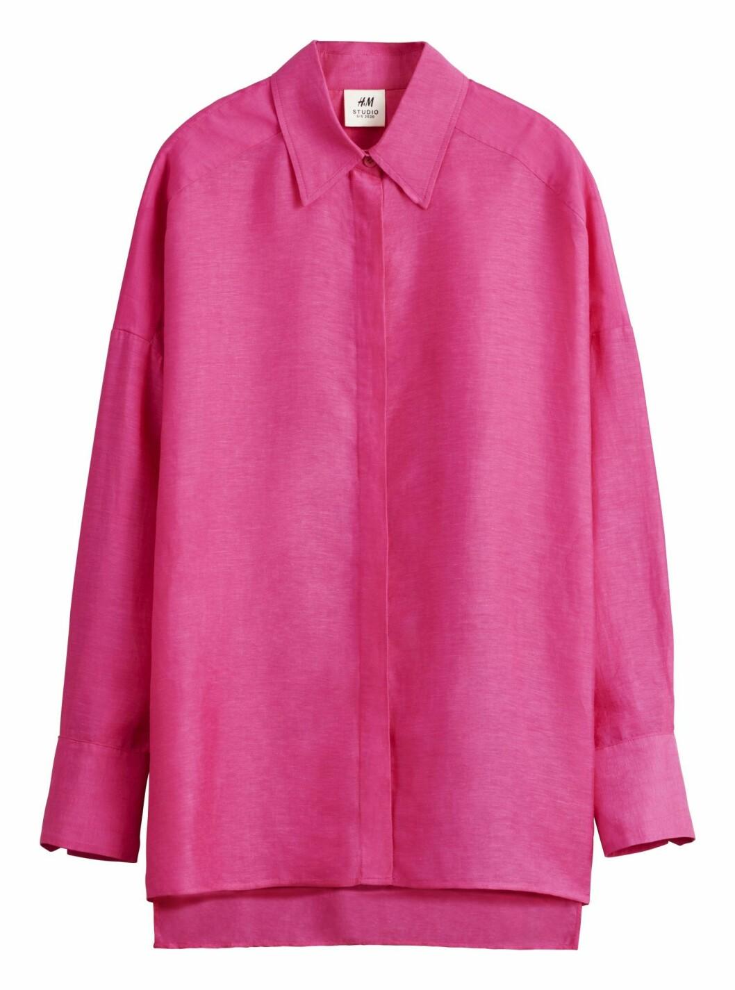 Rosa skjorta H&M Studio SS20