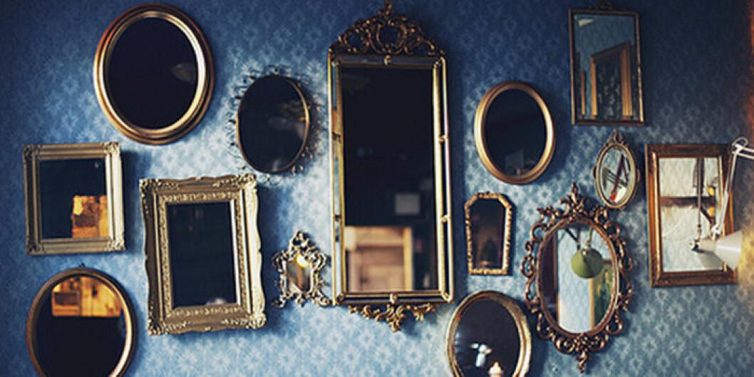 Alice i underlandet spegelvägg