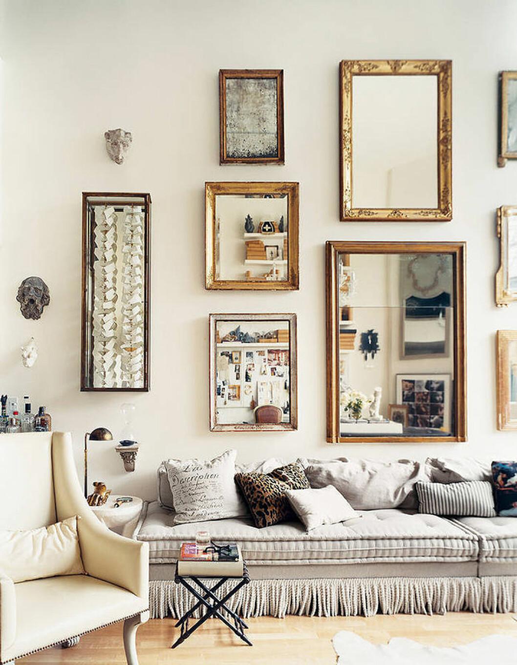 Guldramar på speglar