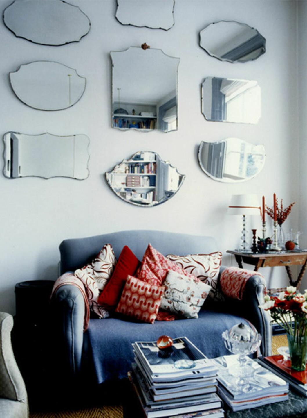 Inspiration till spegelvägg