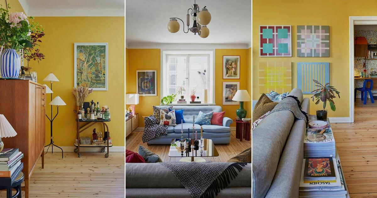 Form- och färgstarkt hemma i lägenhet mitt på Södermalm