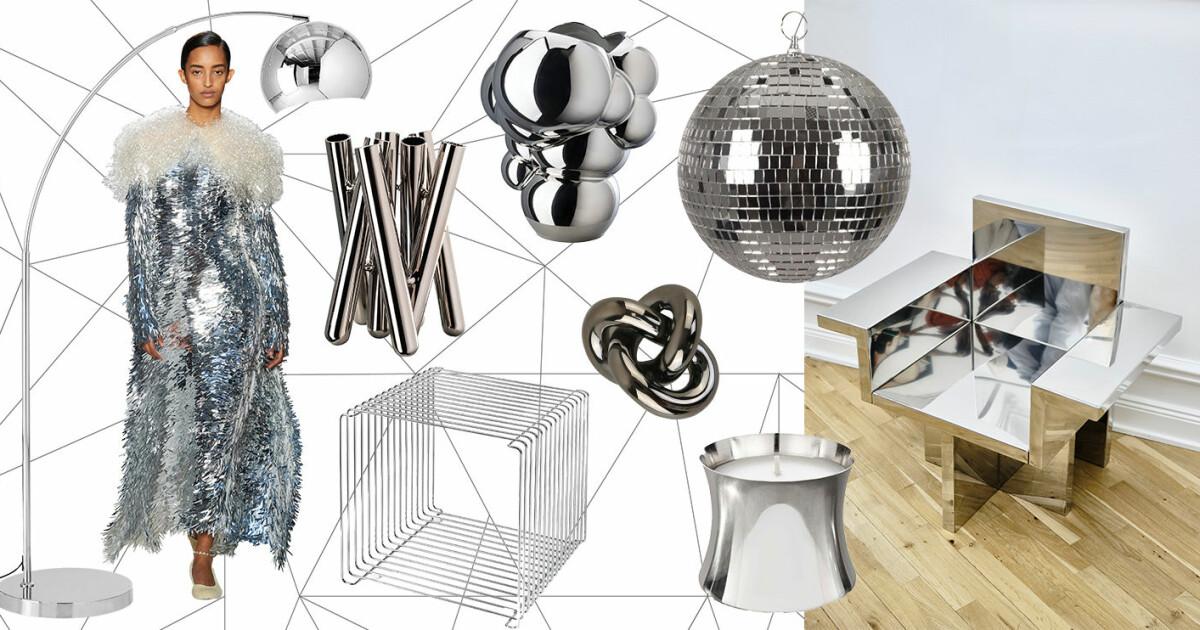 Glansiga detaljer i silver som får hemmet att glänsa
