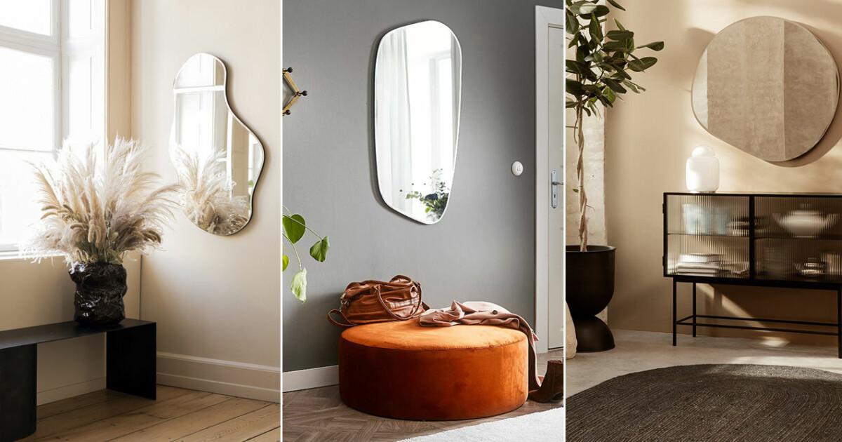 2021 inreder vi med speglar i lekfulla former – 15 trendiga shoppingtips
