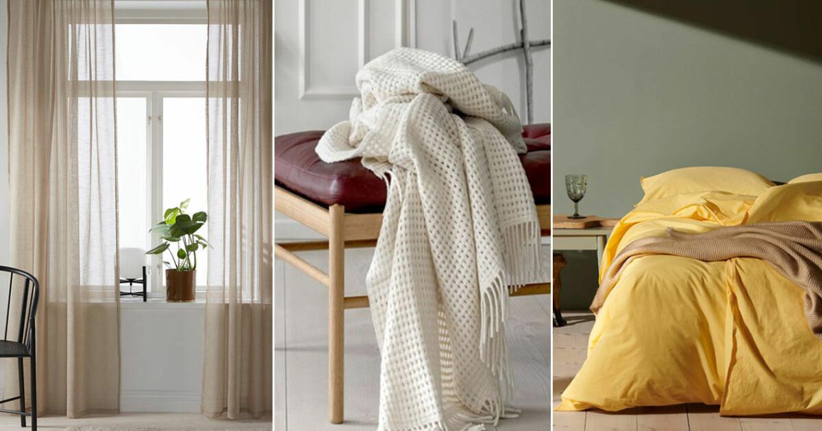 15 snygga, tidlösa och hållbara textilier till hemmet