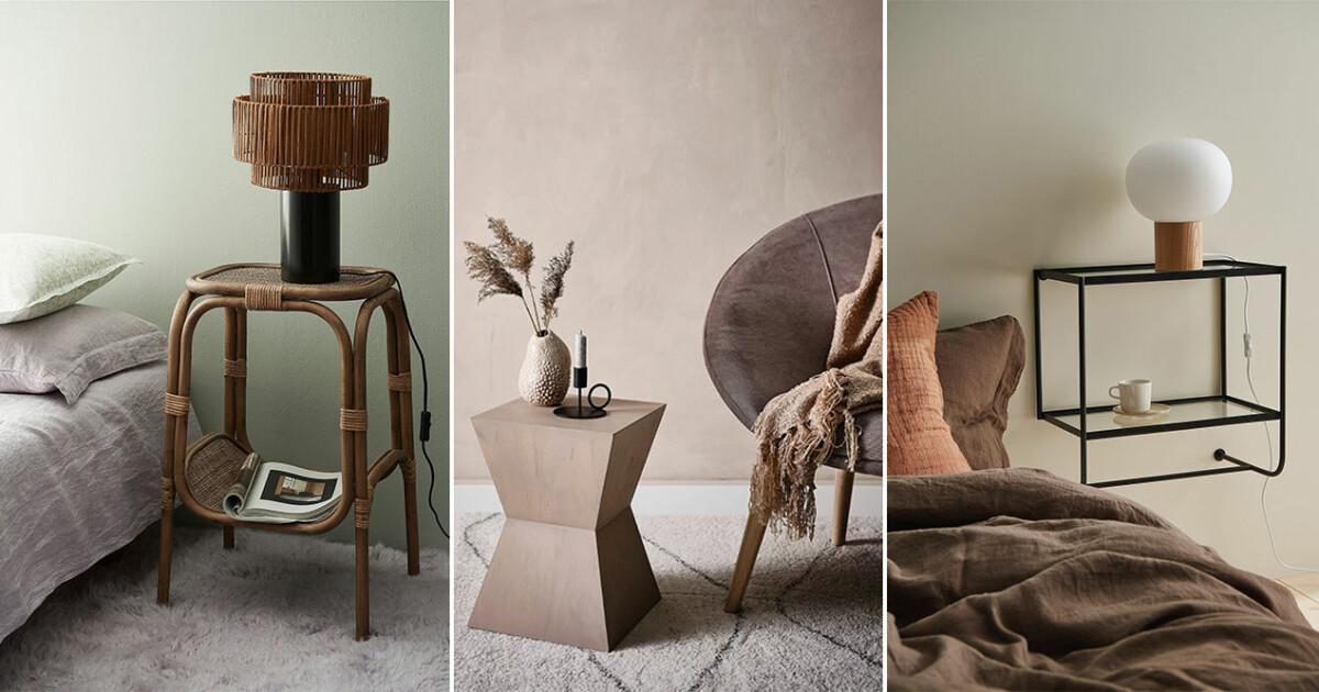 Minimalistiska och fina sängbord – 15 shoppingtips