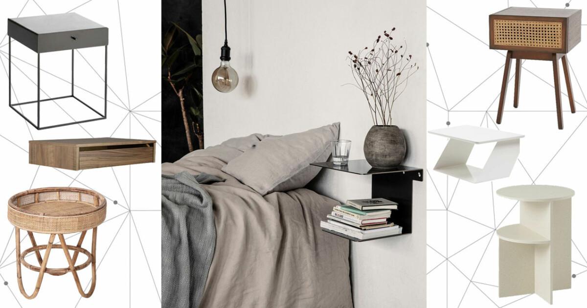 snygga nattduksbord – 14 trendiga shoppingtips i olika stilar