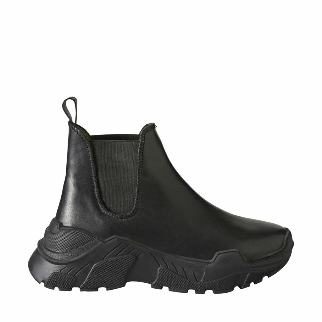 Svarta skor med tjock sula från Minimarket.