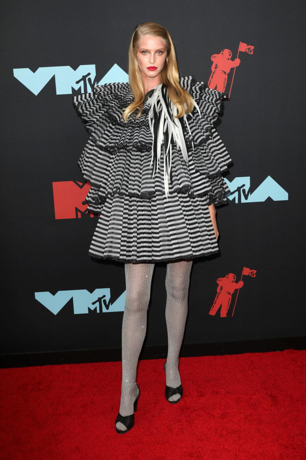 Abby Champion på röda mattan VMA 2019