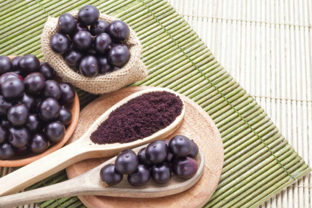 Acai-pulvret innehåller massor av antioxidanter.